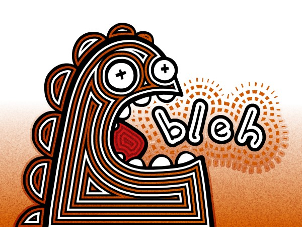 Bleh // ~ 40 x 30 cm // t-shirt silk screen print design // 2013 // 4341 views