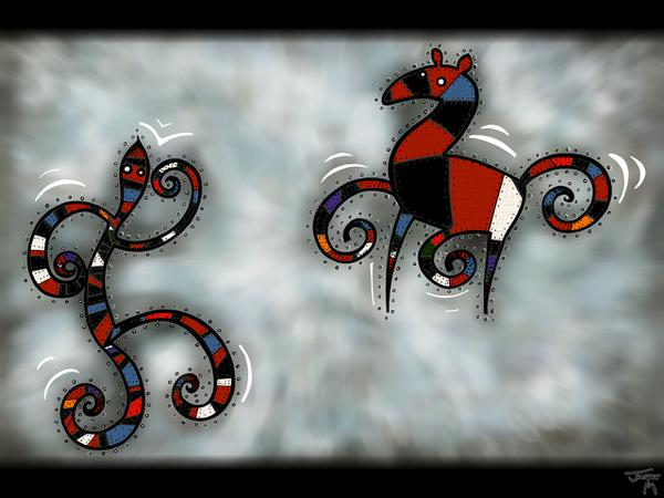 Do the dance // 150 x 100 cm // digital painting // 2009 // 5533 views