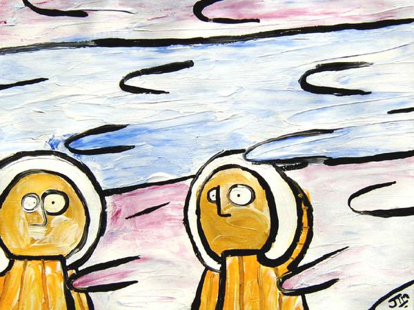 Eskimos in blizzard // 30 x 25 cm // acryllic paint on paper // 2003 // 5391 views