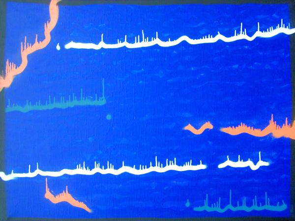 Wave // 120 x 90 cm // graffiti on canvas // 2006 // 9648 views