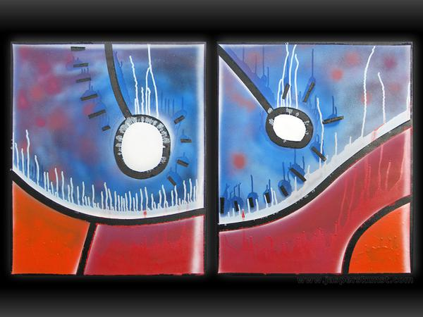 Karma // 2 x 50 x 60 cm // graffiti on canvas // 2009 // 5611 views