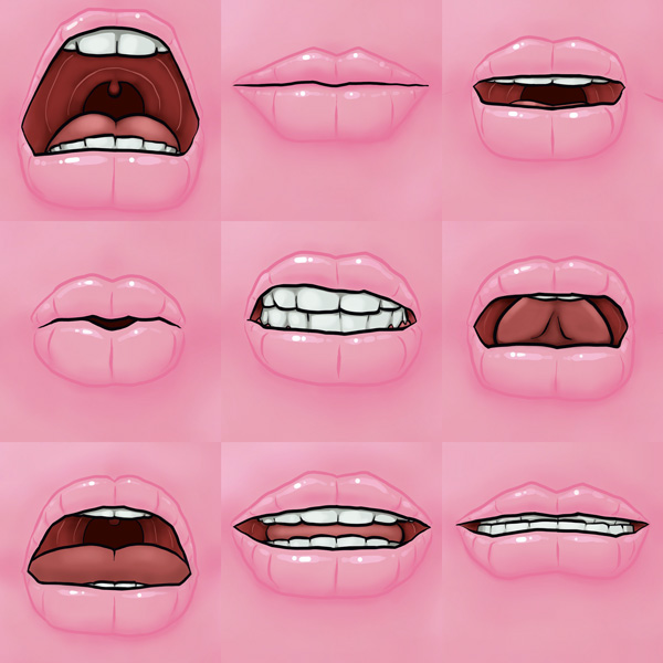Read my lips // 1:1 // digital paint // 2019 // 3361 views