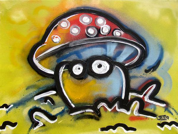 Magic Mushroom // 50 x 60 cm // graffiti and acryllic paint on canvas // 2005 // 5987 views