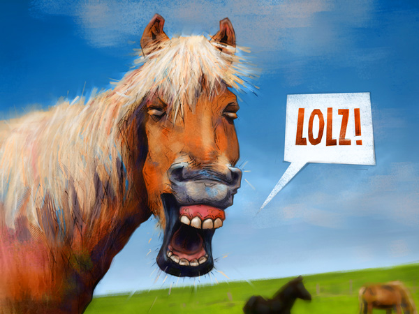 Happy horse (laughs out loud) // 4:3 // digital painting // 2020 // 1234 views