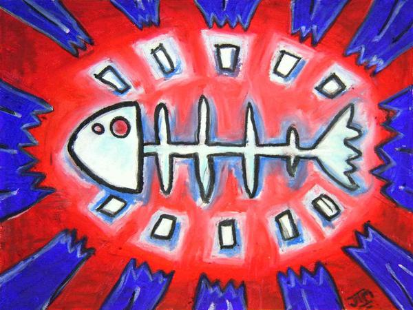 Fish bone // 30 x 25 cm // oil pastel on ingres paper // 2003 // 5443 views