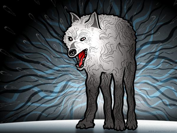 Wolf in state of utter confusion // 50 x 30 cm // digital composition // 2011 // 6084 views